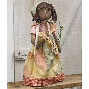 Primitive Decor Standing Hope Doll Country Farmhouse