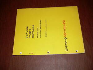 Sperry New Holland 791 Manure Spreader Parts Catalog