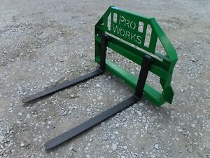John Deere Tractor Loader Attachment 42 Pallet Forks 2 500 Pound 149 Ship