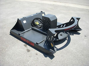 Cat Skid Steer Attachment 60 Direct Drive Brush Cutter Bush Hog Free Ship