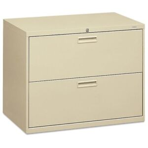 Hon 500 Series Two drawer Lateral File 36w X 19 1 4d X 28 3 8h Putty Hon