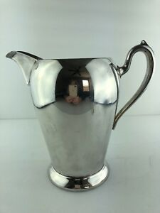 Vintage Academy Silverplate On Copper 105 8 Tall Water Pitcher