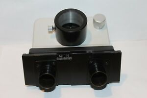 Leitz Wetzlar Microscope Trinocular Head D23 Mm Mikroskop Photo