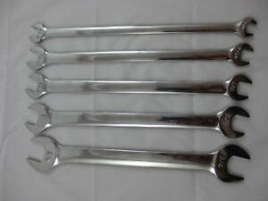 Craftsman 5 Pc Tappet Wrench Set Sae New Fully Polished Thin Design