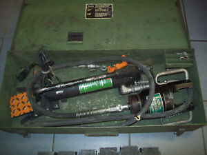 Burndy Y48b Y48bh Hypress 40 ton Hydraulic Crimping Tool Kit Dies Y34bp2 Pump