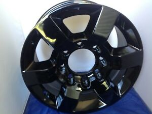 2011 2016 Gmc Sierra 2500 3500 Hd18 Black Gloss Gm Wheel New Set Of 4 22910737