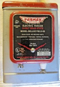 Vintage Parmak Deluxe Field ss 6 Volt Electric Fence Charger Nos