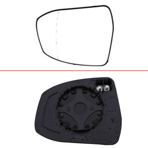 Car Door Wing Mirror Glass White For Ford Focus Mondeo 2008 Right Passenger Side