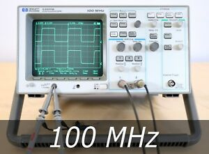 Hp Agilent 54600b 2 channel 100 Mhz Oscilloscope 2 New Probes Very Clean