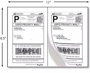 2000 8 5 X 5 5 Premium Self Adhesive Shipping Labels 1000 Sheets Of 8 5 X 11