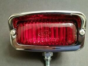 Hella Red Lens 3rd Brake Light Bumper Mount Vintage Vw Volvo Type 3 Bus Bug Led