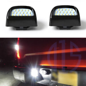 Bright White Led Tag License Plate Light Assembly For 1999 2013 Silverado Sierra