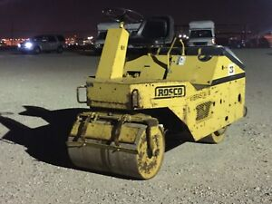 Rosco Vibrastat Compactor Roller Hydropac Iii With Honda Gas Motor Runs Well