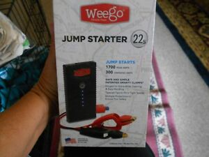 Weego 22s Jump Starter 1700 Peak 300 Cranking Amps Lithium Ion Water Resistant