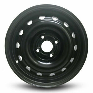 14x5 5 Inch Steel Wheel For 05 11 Chevy Aveo Rim 4 Lug Black Opt Py8
