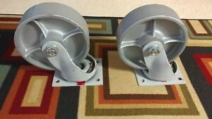 8 Fairbanks Swivel Ex Heavy Duty Replacement Casters Set Of 2