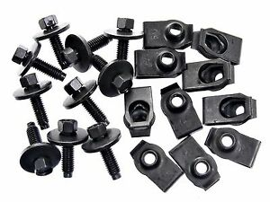 Ford Truck Body Bolts U nut Clips M6 1 0 X 22mm Long 8mm Hex 20 Pcs 136
