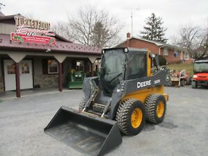 John Deere 320e Wheeled Skid Steer With Cab a c Heat