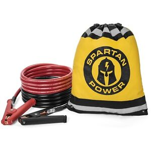 15 Foot 1 0 Awg 0 Gauge Heavy Duty Jumper Cables Booster Set By Spartan Power