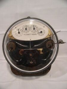 General Electric Single phase Type I 14 5 Amp 110 Volt 25 Cycle Watthour Meter