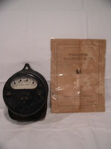 Ge Single phase Type I 14 10 A 110 V 60 Hz Watthour Meter W July 1925 Manual