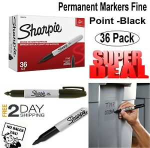 Sharpie 1884739 Permanent Markers Fine Point Black 36 Pieces Marker Pen Pens