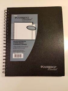 20 Notebooks Cambridge Limited Letter Size Legal ruled Black Business Notebook