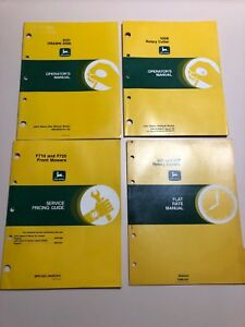 Lot Of John Deere Manuals 620 Drawn Disk Front Mower Rotary Cutter Etc