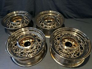 Kelsey Hayes 40 Spoke Wire Wheels 15 Set Of 4 Cadillac Buick Oldsmobile