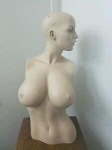 Vintage Female Mannequin Torso Big Boob Nipples Nipple Boobs Large Breasts
