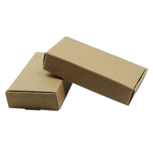 Multi size Brown Kraft Paper Box Jewelry Gifts Packaging Boxes For Wedding Party