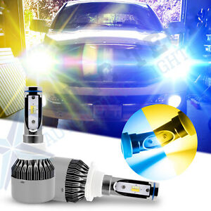 Dual Color Yellow Ice Blue 9005 Hb3 Led Headlight Bulbs Kit High Low Beam Drl