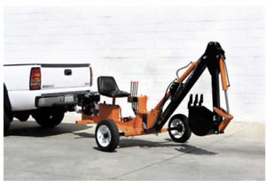 Towable Ride On Trencher Backhoe 9 Hp 301cc
