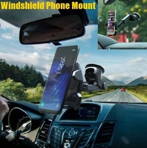 Car Windshield Dashboard Phone Holder Mount For Samsung Galaxy S9 Plus Note 9