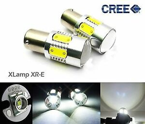 2x Cree Xr E Led 1156 Ba15s P21w For Bmw Projector Front Turn Signal Light White