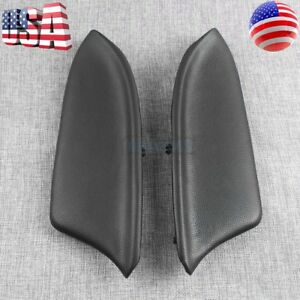 New Black For Honda Accord 2008 2012 Sedan Lr Door Panel Armrest Set Pu Leather