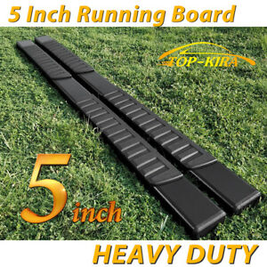 For 2019 Silverado Sierra Crew Cab 5 Running Board Nerf Bar Side Step Black H