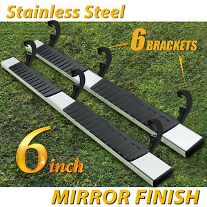For 19 20 Silverado Sierra Double Cab 6 Running Board Nerf Bar Side Step H S S