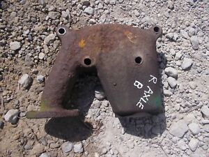John Deere B Rax Tractor Jd Hand Start Engine Exhaust Manifold