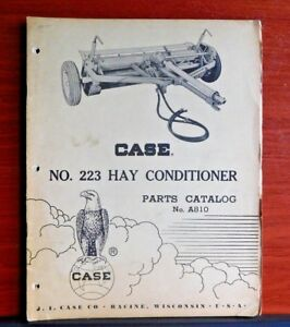 Case No 223 Hay Conditioner Vintage Parts Catalog A810 Suplement 1