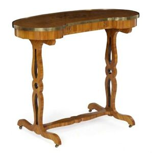 19th Century French Louis Xvi Kingwood Antique Writing Table Console A Rognon
