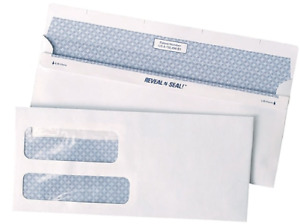 Staples Double Window Security Envelopes Reveal n seal Self sealing 500 bx