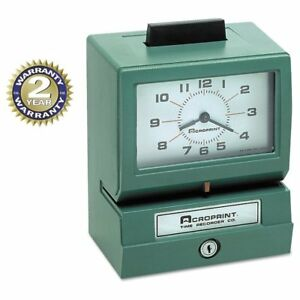 Arcoprint Acroprint Model 125 Analog Manual Print Time Clock With Month date