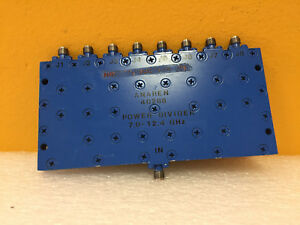 Anaren 40288 7 To 12 4 Ghz 9 Db Couple 8 Way Sma f Power Divider New