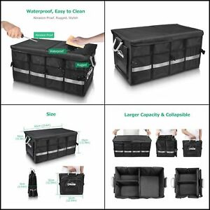 Car Trunk Storage Bin Shelf Collapsible Vehicle Cargo Accessories Organizer Case