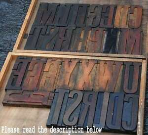 Giant Wood Type Character You Choose your Letter Letterpress Wooden Abc