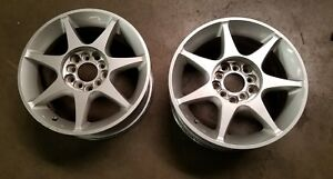Jdm Kosei Japan 15x6 5 45 5x100 5x114 3 Rims 7 Spoke Silver Wheels