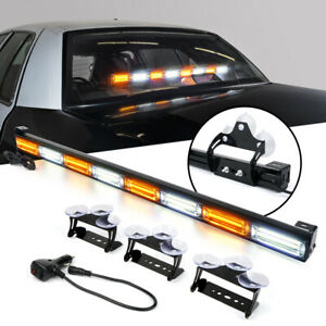 Police Car 35 White Amber Emergency Patrol Traffic Advisor Led Strobe Light Bar