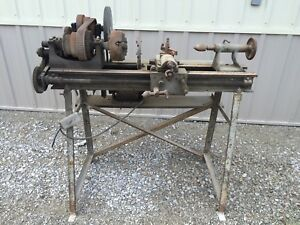 Barnfind Antique Metal Lathe 9 x18 Unknown Brand 110v A