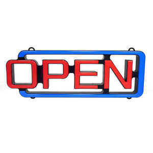 Mystiglo Led Open Sign With Remote 22 w X 7 5 h X 2 d Ul listed Flashing Option